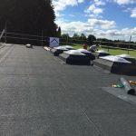 Flat Felt Roof and Sky Light Installation